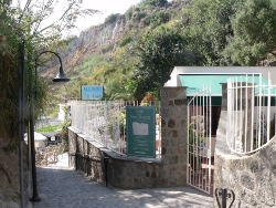 panoramica ingresso della sorgente di nitrodi
